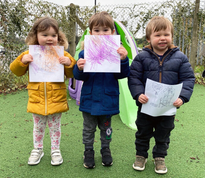 Nursery children pay their own special tribute to Sir Tom