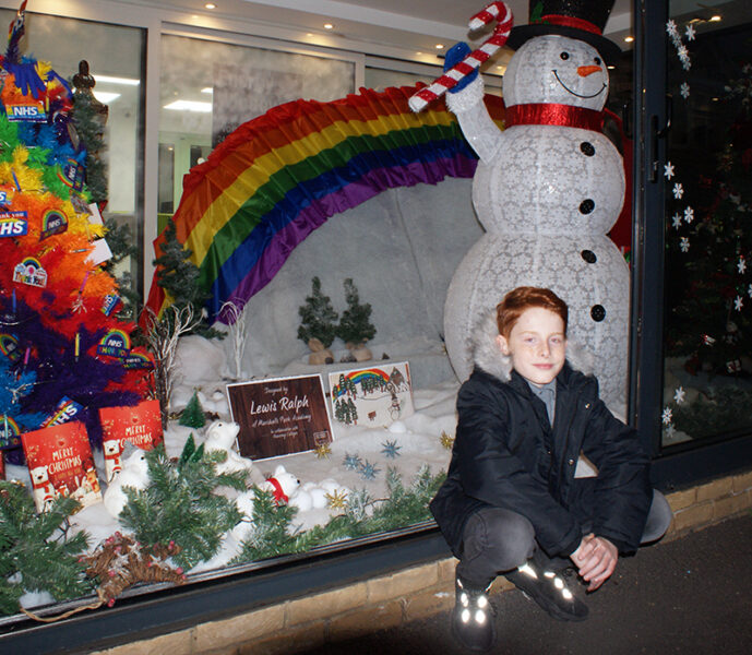 Window Wonderland winner of New City College competition at Chigwell Windows, Collier Row