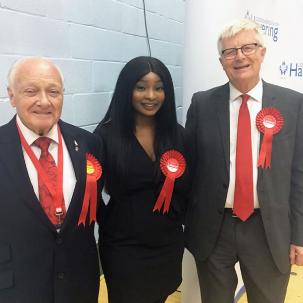 Tele Lawal progressed to become a Labour Party Councillor on the London Borough of Havering Council aged 22. She studied Performing Arts and Creative Media BTECs at Havering Sixth Form College. She was one of the youngest councillors in the UK.