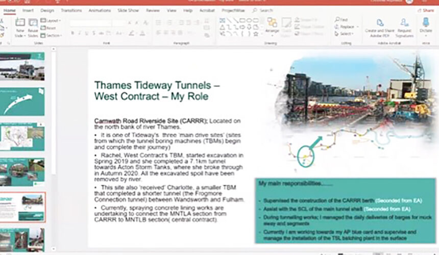 New City College engineering students online work experience with Tideway West