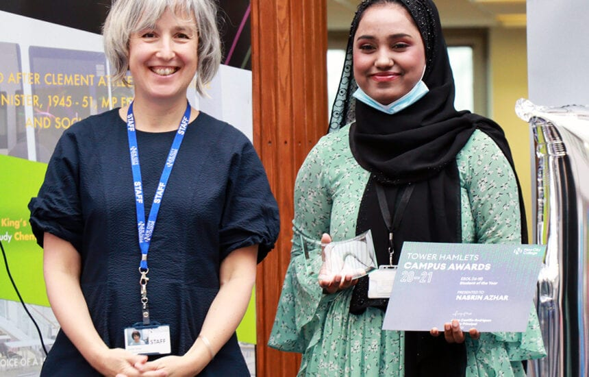 Outstanding students who have shown tenacity, determination and compassion for others were honoured at New City College end-of-year Campus Award Evenings.