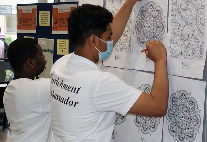 Check out some of the Newe City College Induction activities which included natural Henna designs, a Mental Health stall, sports team sign-ups, chess, Origami, quizzes, cupcake designs, Bollywood dancing, natural remedy tutorials, well-being colouring, dodgeball, LGBT+ stall and Duke of Edinburgh's Award information